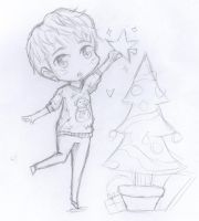 Xmas Chibi Sungmin :D by CheekyFlower