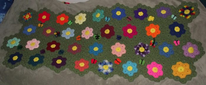 Butterfly Garden Afghan by Dragon-Star-Empress