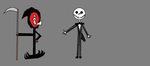 Grim and Jack Skellington. by Smurfette123