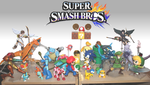 Smash Bros Figure display by Trikeboy2