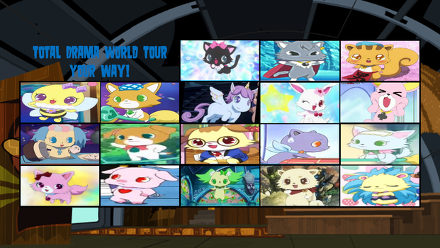 Total Jewel Pet World Tour Elimination Order by DEEcat98