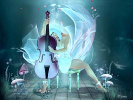 Soundless Melody by Violetmoon-Art