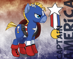Ponified Avengers: Captain America Single by Creepy99