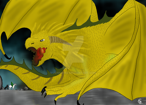 The last golden dragon by Jenna1xD