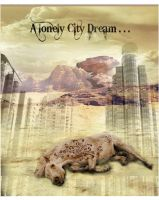 A lonely City Dream - brushes on horse test. by mondaybleu