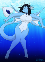 Request: Aquaria the Dragoness by XizzDot