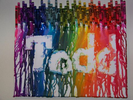 Melted Crayon Art by angelicmanor