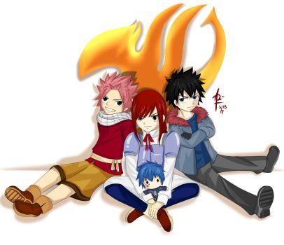 Little Erza and the Boys :D by aaudrina