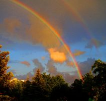 Double rainbow by RiotLife