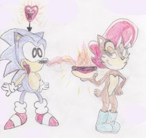 Sonic and Sally: come and get it boy! by ClassicSonicSatAm