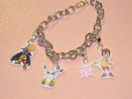 ART TRADE Hikari digimon charm bracelet by kouweechi