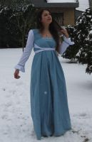 Blue dress in Snow 8 by NaomiFan