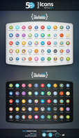 50 Social Icons by King Sora - Vector Icons by King--Sora