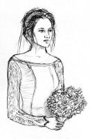 Sketch for Bella's Wedding Gown by LittleSeaSparrow
