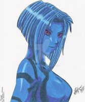 Halo - Cortana by xolotlrex