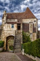door Cordeliers Falaise Calvados France by hubert61