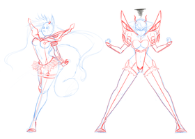 Kill la Kill Sketches by VoodooRed