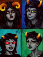 Homestuck: AM, VS, TP, + KM by cogdis