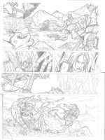 Thor and Red Sonja Test page 1 by IgorChakal