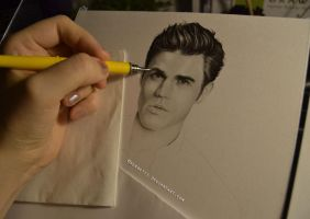 Paul Wesley WIP by Sorbetti
