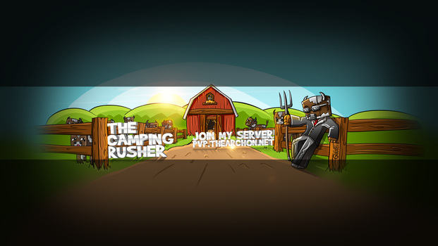 TheCampingRusher- Youtube Banner by FinsGraphics