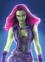 Guardians of the Galaxy : Gamora by skywalkerbot