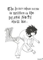 'L' - Death Note by Awielle