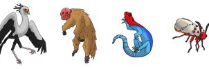 Animallum:  Earth Animals (Red Faced???) by Orbital-Primeval