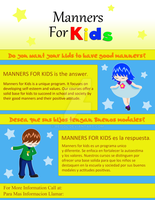 Manners for Kids Flyer by mishu2121