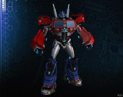 Optimus Prime ( simple rigged ) by Goreface13