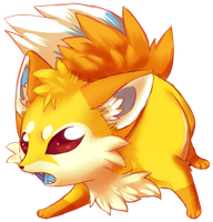 Angry lil fox by VengefulSpirits