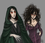 lord voldemort and her right hand woman by kmclaude