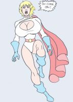 poor Power Girl by zanfadar