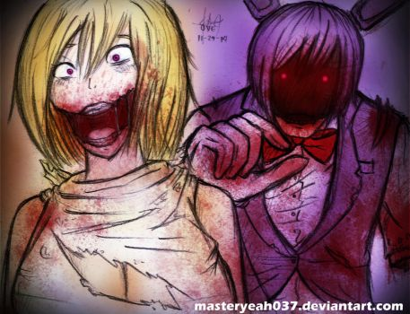 Chica and Bonnie-Five Nights at Freddy's 2 by MasterOhYeah