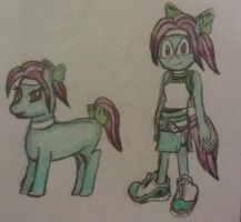 Crystal Flower - Pony and Mobian Form by A5L