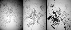 X-Men Ink Progression 2 by ChristopherStevens