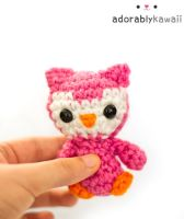 Pink Tiny Owl Plush by adorablykawaii