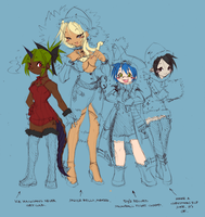 87: HOLIDAY MISCREANTS WIP by crybringer