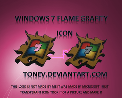 Windows flame Grafiti icon by tonev
