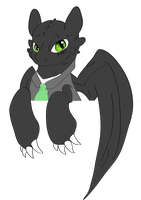 Dapper Toothless by Starlord-wannabe