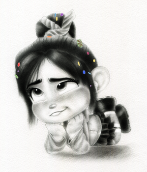 Vanellope - Oh, Come On! by artistsncoffeeshops
