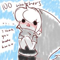 100 Watchers In Less Than A Month by AskKawaiiBenDrowned