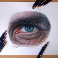 Eye drawing  + video by AtomiccircuS
