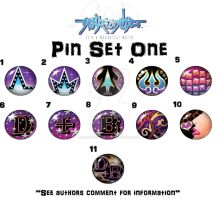 TWEWY PIN SET ONE by uncivillyemily