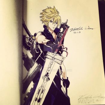 Final Fantasy: Cloud Strife by Ventshe