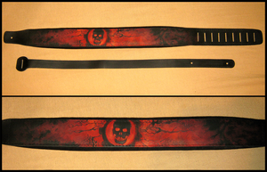 Gears of War Guitar Strap by WispyChipmunk