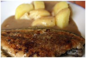 Pan-fried fish by DysfunctionalKid