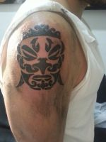 Maori mask by flaviudraghis