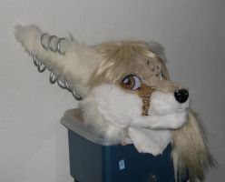 Fennec fox head by Bladespark