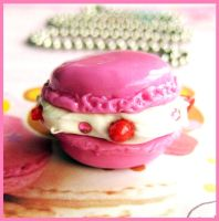 Pink Macaron Necklace 2 by cherryboop